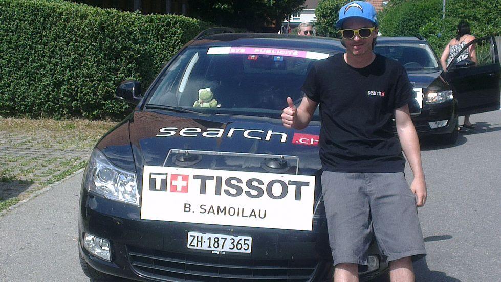 """Mein persönliches Highlight. Unteranderem dem Radprofi, Branislau Samojlau, beim Zeitfahren als """"Mechaniker"""" zu dienen."""